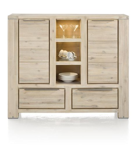 Buckley, highboard 2-doors + 2-drawers + 3-niches (+ LED)-1