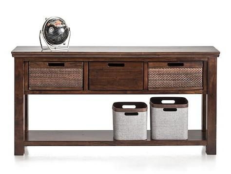 Cape Cod, side table 153 x 35 cm + 3-baskets-1