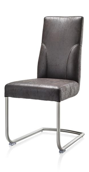 Travis, dining chair stainless steel + fabric Puma-1