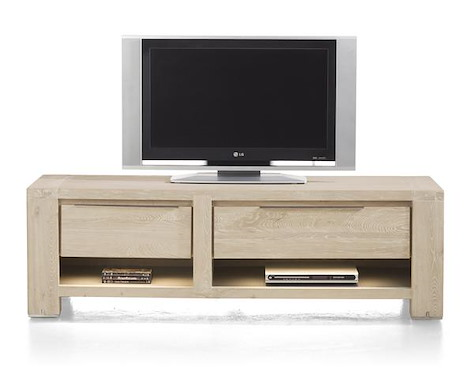 Buckley, tv-sideboard 1-drawer + 2 niches + 1-fall front 150 cm (+ LED)-1