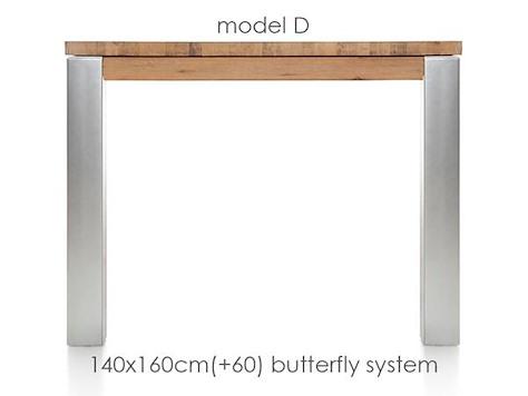 A La Carte, extendable dining table 160 (+ 60) x 140 cm - DIRK-1