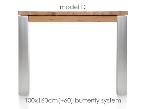 A La Carte, table a rallonge 160 (+ 60) x 100 cm - DIRK-1