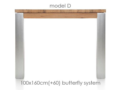 A La Carte, extendable dining table 160 (+ 60) x 100 cm - DIRK-1
