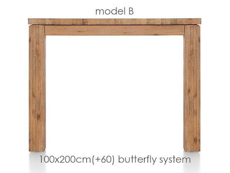 A La Carte, extendable dining table 200 (+ 60) x 100 cm - BEN-1