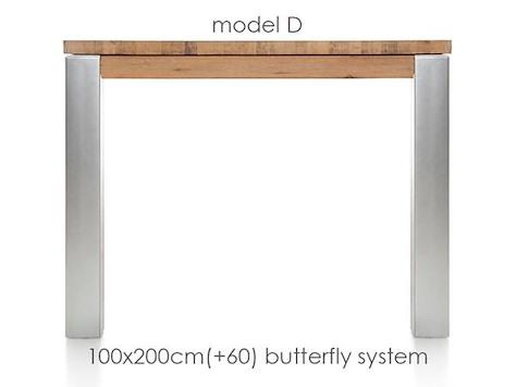 A La Carte, extendable dining table 200 (+ 60) x 100 cm - DIRK-1