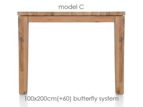 A La Carte, ext.dining table 200 (+ 60) x 100 cm - COR-1