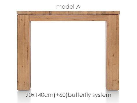 A La Carte, table a rallonge 140 (+ 60) x 90 cm - AAD-1