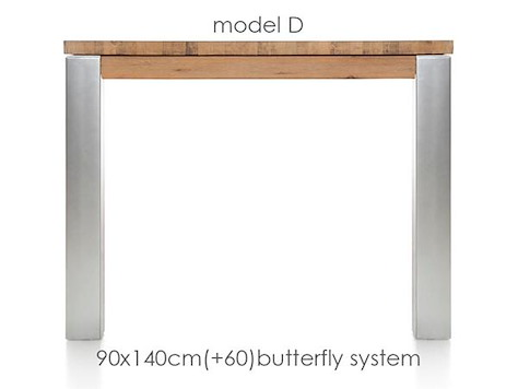 A La Carte, table a rallonge 140 (+ 60) x 90 cm -DIRK-1