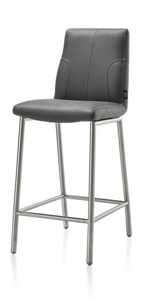 Hilary, barchair stainless steel + Tatra leatherlook-1