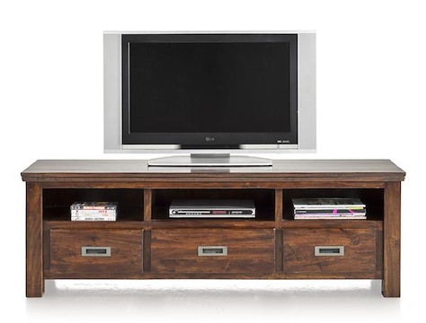 Cape Cod, tv-sideboard 3-drawers + 3-niches - 160 cm-1