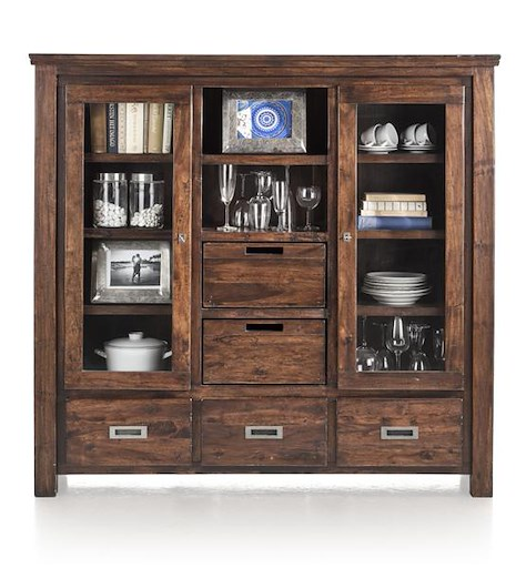 Cape Cod, highboard 2-doors + 3-drawers + 2-baskets + 2-niches-1