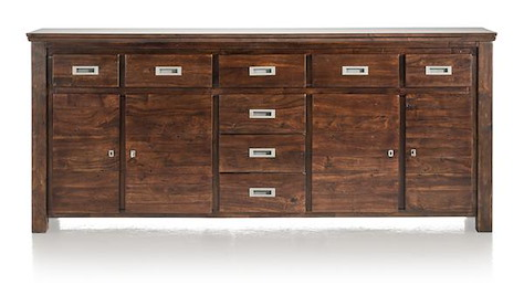 Cape Cod, sideboard 4-doors + 8-drawers - 220 cm-1