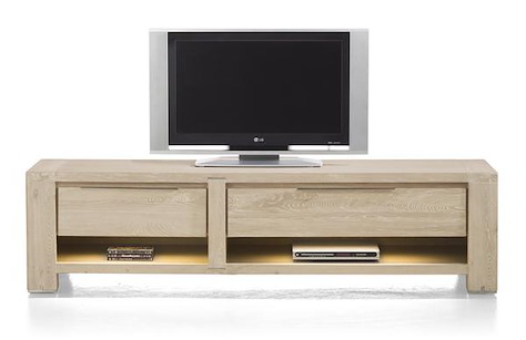 Buckley, tv-sideboard 1-drawer + 2 niches + 1-fall front 180 cm (+ LED)-1