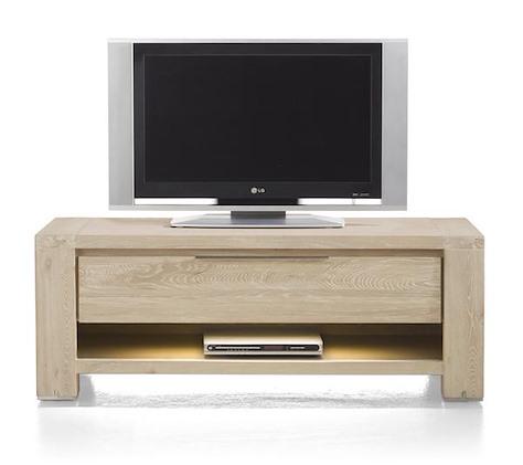 Buckley, dressoir tv 1-tiroir + 1-niche 120 cm (+ LED)-1