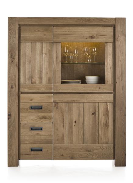 Santorini, armoire 1-porte en verre + 2-portes + 2-tiroirs (+ bande LED)-1