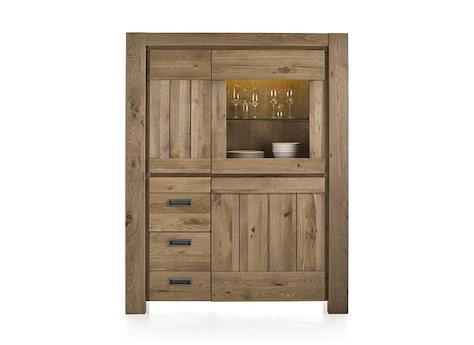 santorini armoire 1 porte en verre 2 portes 2 tiroirs bande led. Black Bedroom Furniture Sets. Home Design Ideas