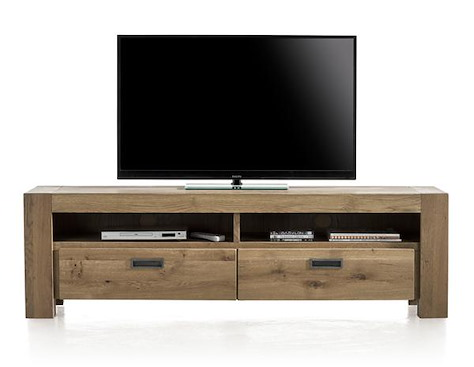 Santorini, tv-sideboard 2-drawers + 2-niches - 180 cm-1