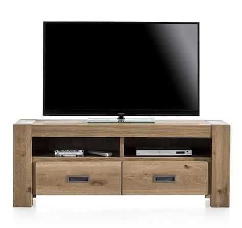 Santorini, meuble tv 2-tiroirs + 2-niches - 140 cm-1