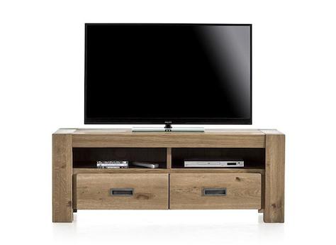 meuble tv santorini 2 tiroirs 2 niches 140 cm heth. Black Bedroom Furniture Sets. Home Design Ideas