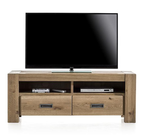 Santorini, tv-sideboard 2-drawers + 2-niches - 140 cm-1