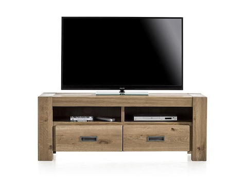santorini meuble tv 2 tiroirs 2 niches 140 cm. Black Bedroom Furniture Sets. Home Design Ideas