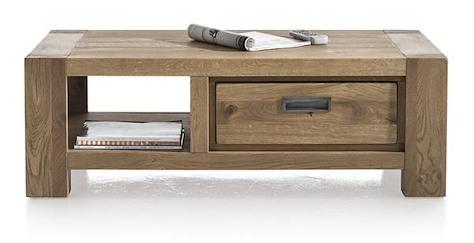 Santorini, table basse 120 x 60 cm + 1-tiroir t&t + 1-niche-1