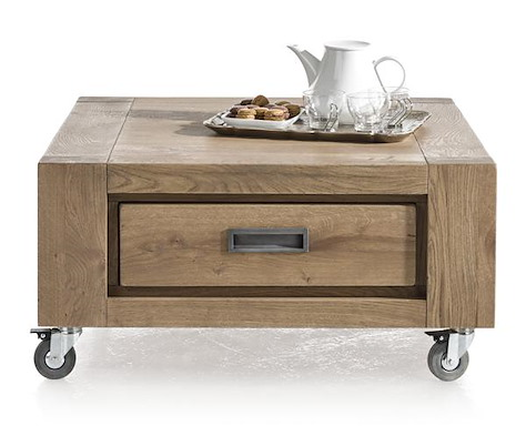 Santorini, table basse 80 x 80 cm + 1-tiroir t&t-1