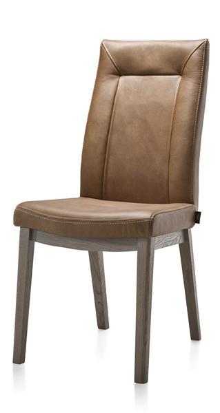 Malvino, dining chair - beech wood legs + handgrip-1