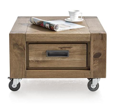 Santorini, tea table 60 x 60 cm + 1-drawer t&t-1