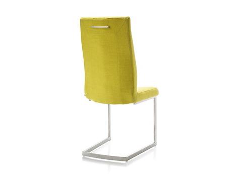 Chaise En Inox Pied Traineau Carre Poigne Style Moderne Malene