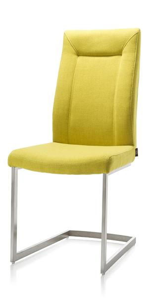 Malene, chaise - pied traineau inox carre avec poignee-1