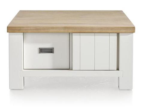 Istrana, table basse 90 x 90 cm + 2-portes coulissantes + 2-tiroirs-1