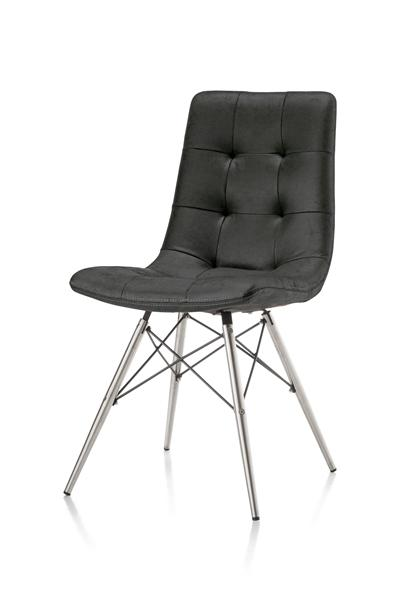 Alec, chaise inox + pied conique-1