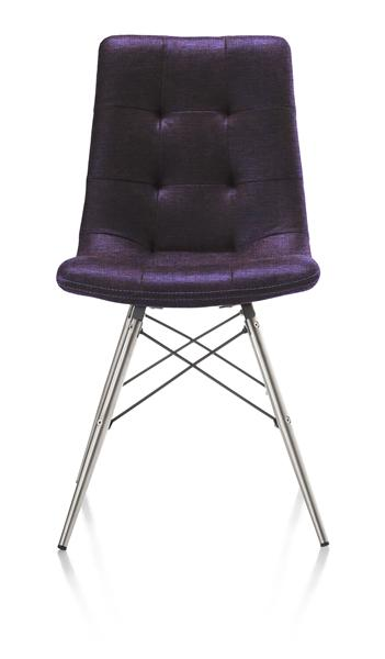 Alegra, dining chair stainless steel + conical leg-1