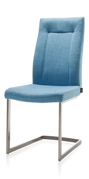 Malene, chaise - pied traineau inox carre-1