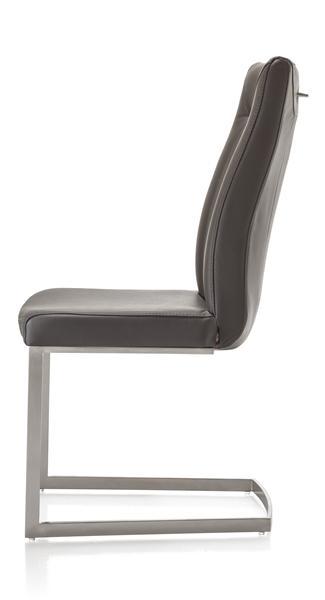 Malvino, chaise - pied traineau inox carre + poignee rond-1
