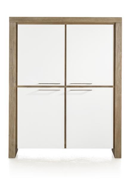 Kozani, armoire basse 4-portes + 2-tiroirs (interieur) - 120 cm-1