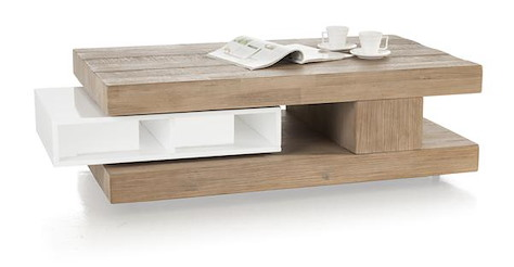 Kozani, coffee table 4-niches + 1-tournante 120 x 60 cm-1