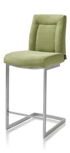 Malene, chaise bar - inox pied traineau carre + poignee