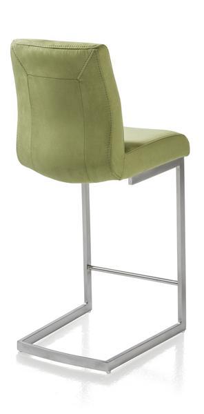 Malene, chaise bar - inox pied traineau carre-1