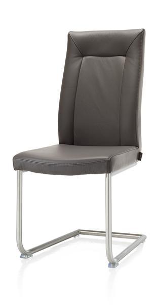 Malvino, chaise - pied traineau inox rond