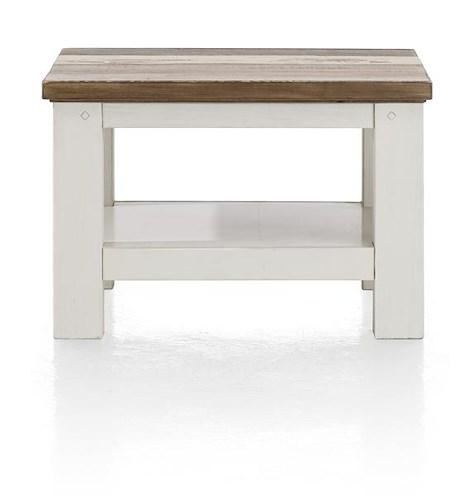 Tibro, table basse 55 x 55 cm + pieds bois-1