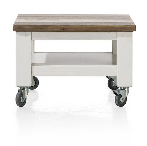 Tibro, table basse 55 x 55 cm + roues-1