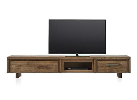 meuble tv masters 2 portes rabattantes 220cm bois heth. Black Bedroom Furniture Sets. Home Design Ideas