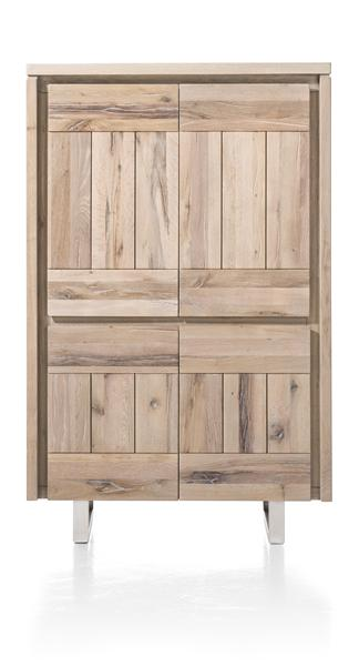 More, cabinet 4-doors 99 cm - stainless steel-1