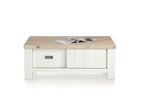 Istrana, table basse 120 x 70 cm + 2-portes coulissantes + 2-tiroirs-1