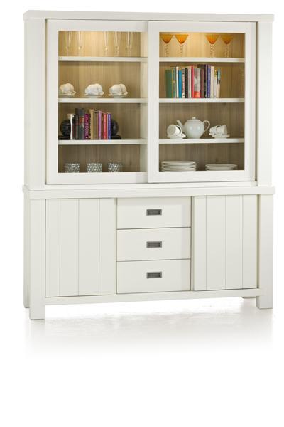 Istonia, buffet 1-sliding door + 2-glass doors + 1-door + 3-drawers (+ LED)-1