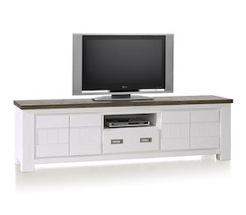 Deaumain, tv-dressoir 4-deuren + 1-lade + 1-niche - 190 cm
