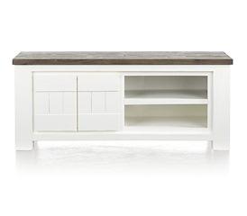 Deaumain, tv-dressoir 2-deuren + 2-niches - 130 cm