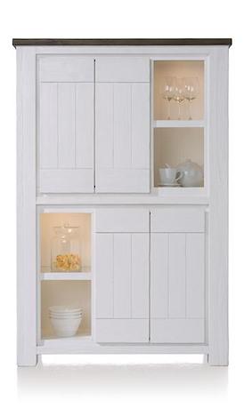 Deaumain, bergkast 4-deuren + 4-niches - 110 cm ( + halogeen)